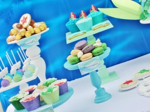 Little Mermaid Under the Sea themed birthday party via Kara's Party Ideas karaspartyideas.com #ariel #mermaid #themed #birthday #party #ideas #cake #decor #supplies (29)