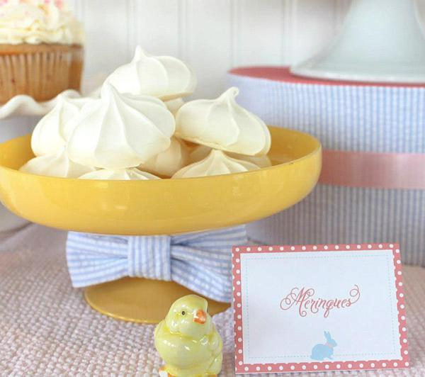 Seersucker & Bow Tie Easter Party or baby shower idea via Kara's Party Ideas karaspartyideas.com Bunny Birthday First Easter Party Supplies (21)