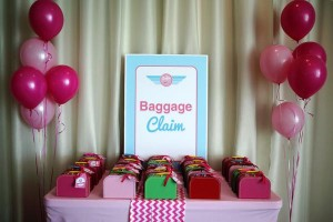 Girly Airplane Airline themed birthday party via Kara's Party Ideas karaspartyideas.com #airline #airplane #plane #party #idea #cake #girly #girl supplies decorations (7)