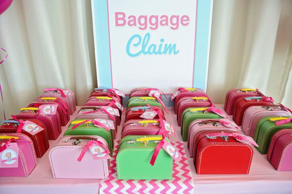 Karas Party Ideas Girly Airplane Airline themed birthday party