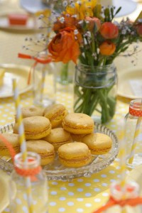 Gender Neutral Spring Soiree 1st birthday party via Kara's Party Ideas karaspartyideas.com #gender #neutral #party #idea #spring #birthday #first #1st #orange #cake (10)