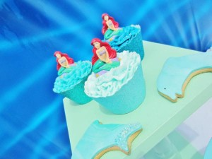 Little Mermaid Under the Sea themed birthday party via Kara's Party Ideas karaspartyideas.com #ariel #mermaid #themed #birthday #party #ideas #cake #decor #supplies (27)