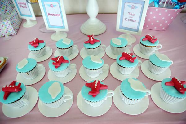 Karas Party Ideas Girly Airline Themed 5th Birthday Party