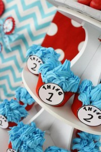 Thing One & Thing Two Dr Seuss Themed Birthday Party for twins via Kara's Party Ideas karaspartyideas.com supplies cake decorations gender neutral decor tips activities games books birthday (30)