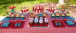 Circus Big Top Carnival Themed Party via Kara's Party Ideas karaspartyideas.com #circus #carnival #party #ideas #idea #cake #decor #supplies (17)