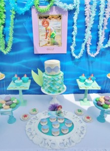 Little Mermaid Under the Sea themed birthday party via Kara's Party Ideas karaspartyideas.com #ariel #mermaid #themed #birthday #party #ideas #cake #decor #supplies (25)