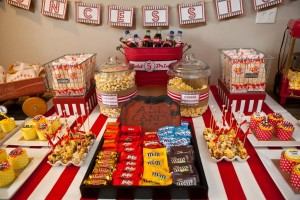 Vintage Movie Themed Birthday Party via Kara's Party Ideas KarasPartyIdeas.com #vintage #movie #party #birthday #planning #ideas #cake #decorations #favors #idea #supplies (42)