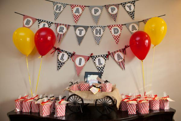 Kara 39 s party ideas vintage movie themed birthday party for Adult birthday decoration ideas