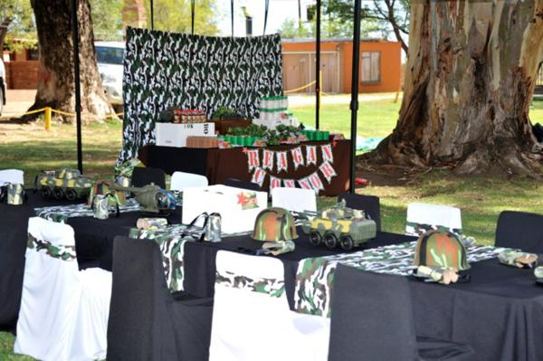 Kara 39 s party ideas army themed birthday party via karas for Army party decoration