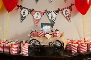 Vintage Movie Themed Birthday Party via Kara's Party Ideas KarasPartyIdeas.com #vintage #movie #party #birthday #planning #ideas #cake #decorations #favors #idea #supplies (6)