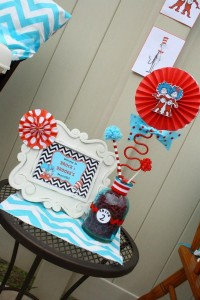 Thing One & Thing Two Dr Seuss Themed Birthday Party for twins via Kara's Party Ideas karaspartyideas.com supplies cake decorations gender neutral decor tips activities games books birthday (25)