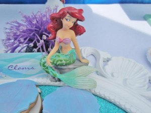 Little Mermaid Under the Sea themed birthday party via Kara's Party Ideas karaspartyideas.com #ariel #mermaid #themed #birthday #party #ideas #cake #decor #supplies (24)