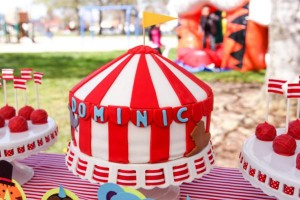 Circus Big Top Carnival Themed Party via Kara's Party Ideas karaspartyideas.com #circus #carnival #party #ideas #idea #cake #decor #supplies (13)