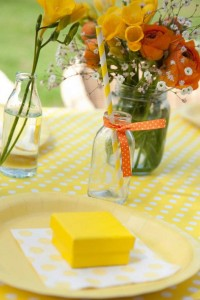 Gender Neutral Spring Soiree 1st birthday party via Kara's Party Ideas karaspartyideas.com #gender #neutral #party #idea #spring #birthday #first #1st #orange #cake (8)