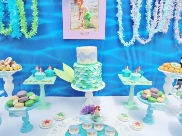 Kara 39 s party ideas little mermaid under the sea themed for Ariel birthday decoration ideas