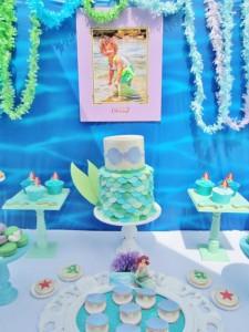 Little Mermaid Under the Sea themed birthday party via Kara's Party Ideas karaspartyideas.com #ariel #mermaid #themed #birthday #party #ideas #cake #decor #supplies (19)