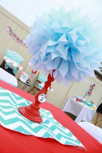 Thing One & Thing Two Dr Seuss Themed Birthday Party for twins via Kara's Party Ideas karaspartyideas.com supplies cake decorations gender neutral decor tips activities games books birthday (23)