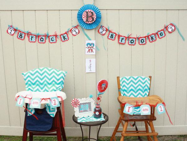 1st Birthday Decorations Twins Image Inspiration of Cake and