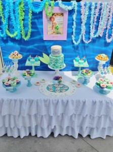 Little Mermaid Under the Sea themed birthday party via Kara's Party Ideas karaspartyideas.com #ariel #mermaid #themed #birthday #party #ideas #cake #decor #supplies (18)