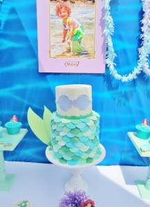 Little Mermaid Under the Sea themed birthday party via Kara's Party Ideas karaspartyideas.com #ariel #mermaid #themed #birthday #party #ideas #cake #decor #supplies (17)