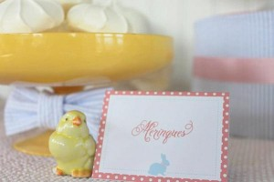 Seersucker & Bow Tie Easter Party or baby shower idea via Kara's Party Ideas karaspartyideas.com Bunny Birthday First Easter Party Supplies (10)