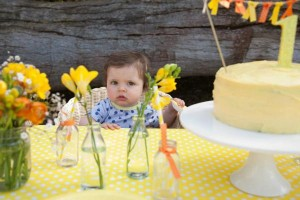 Gender Neutral Spring Soiree 1st birthday party via Kara's Party Ideas karaspartyideas.com #gender #neutral #party #idea #spring #birthday #first #1st #orange #cake (7)