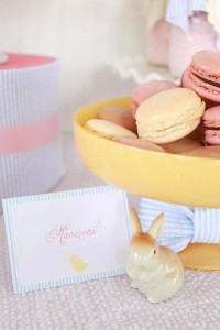 Seersucker & Bow Tie Easter Party or baby shower idea via Kara's Party Ideas karaspartyideas.com Bunny Birthday First Easter Party Supplies (7)