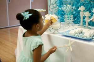 Under the Sea Mermaid 3rd Birthday Party via Kara's Party Ideas KarasPartyIdeas.com #mermaid #under #sea #birthday #party #cake #decorations #idea #supplies (12)