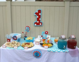 Thing One & Thing Two Dr Seuss Themed Birthday Party for twins via Kara's Party Ideas karaspartyideas.com supplies cake decorations gender neutral decor tips activities games books birthday (18)