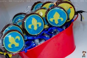 Mickey Mouse Musketeer + Mouseketeer themed birthday party via Kara's Party Ideas Mickey Mouse Party Supplies Shop (19)
