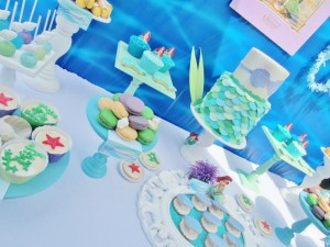 Little Mermaid Under the Sea themed birthday party via Kara's Party Ideas karaspartyideas.com #ariel #mermaid #themed #birthday #party #ideas #cake #decor #supplies (14)