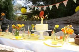 Gender Neutral Spring Soiree 1st birthday party via Kara's Party Ideas karaspartyideas.com #gender #neutral #party #idea #spring #birthday #first #1st #orange #cake (5)
