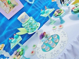 Little Mermaid Under the Sea themed birthday party via Kara's Party Ideas karaspartyideas.com #ariel #mermaid #themed #birthday #party #ideas #cake #decor #supplies (13)