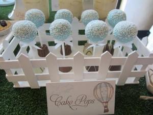 Hot Air Balloon Christening or birthday party via Kara's Party Ideas karaspartyideas.com #hot #air #balloon #christening #party #birthday #ideas #decor #cake (7)