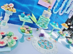 Little Mermaid Under the Sea themed birthday party via Kara's Party Ideas karaspartyideas.com #ariel #mermaid #themed #birthday #party #ideas #cake #decor #supplies (10)