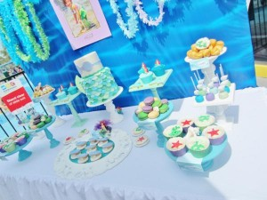 Little Mermaid Under the Sea themed birthday party via Kara's Party Ideas karaspartyideas.com #ariel #mermaid #themed #birthday #party #ideas #cake #decor #supplies (9)