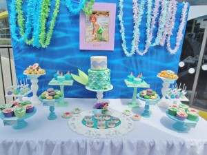 Little Mermaid Under the Sea themed birthday party via Kara's Party Ideas karaspartyideas.com #ariel #mermaid #themed #birthday #party #ideas #cake #decor #supplies (6)