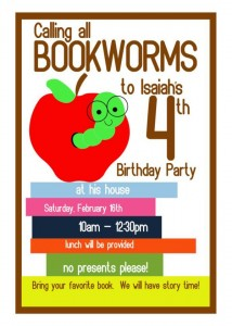 Bookworm themed birthday party via Kara's Party Ideas karaspartyideas.com #bookworm #book #themed #birthday #party #ideas (5)
