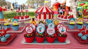 Circus Big Top Carnival Themed Party via Kara's Party Ideas karaspartyideas.com #circus #carnival #party #ideas #idea #cake #decor #supplies (31)
