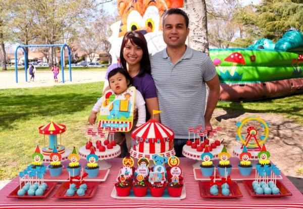 Karas Party Ideas Circus Carnival Themed Boy Girl 1st Birthday
