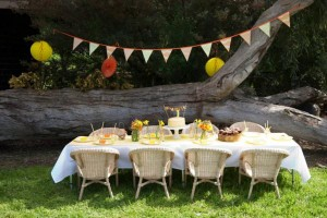 Gender Neutral Spring Soiree 1st birthday party via Kara's Party Ideas karaspartyideas.com #gender #neutral #party #idea #spring #birthday #first #1st #orange #cake (4)