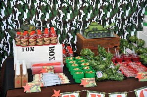 Army Themed Birthday Party via Karas Party Ideas karaspartyideas.com #army #themed #birthday #party #cake #decor #ideas (4)