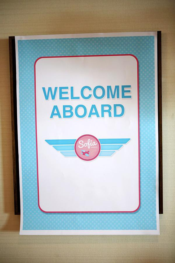 Kara S Party Ideas Girly Airline Airplane Plane Themed 5th