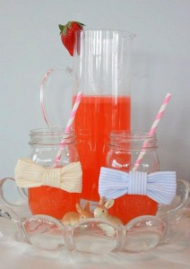 Seersucker & Bow Tie Easter Party or baby shower idea via Kara's Party Ideas karaspartyideas.com Bunny Birthday First Easter Party Supplies (19)