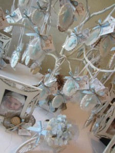 Hot Air Balloon Christening or birthday party via Kara's Party Ideas karaspartyideas.com #hot #air #balloon #christening #party #birthday #ideas #decor #cake (2)