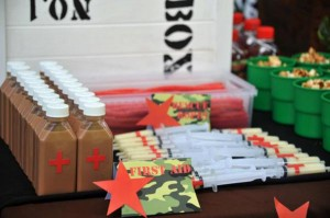 Army Themed Birthday Party via Karas Party Ideas karaspartyideas.com #army #themed #birthday #party #cake #decor #ideas (2)