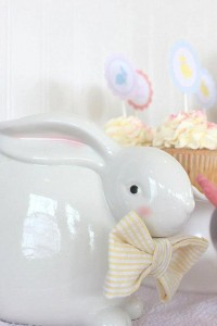 Seersucker & Bow Tie Easter Party or baby shower idea via Kara's Party Ideas karaspartyideas.com Bunny Birthday First Easter Party Supplies (17)