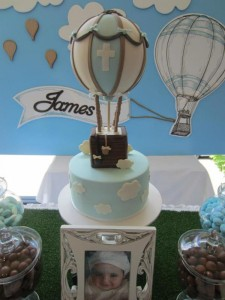 Hot Air Balloon Christening or birthday party via Kara's Party Ideas karaspartyideas.com #hot #air #balloon #christening #party #birthday #ideas #decor #cake (46)