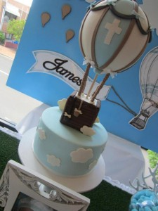 Hot Air Balloon Christening or birthday party via Kara's Party Ideas karaspartyideas.com #hot #air #balloon #christening #party #birthday #ideas #decor #cake (45)