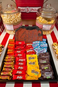 Vintage Movie Themed Birthday Party via Kara's Party Ideas KarasPartyIdeas.com #vintage #movie #party #birthday #planning #ideas #cake #decorations #favors #idea #supplies (40)